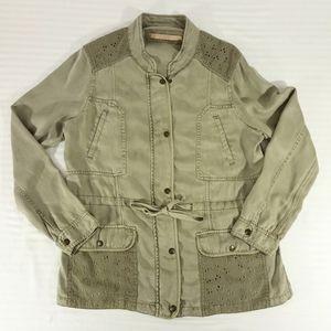 Max Jeans Khaki Green Military Utility Jacket